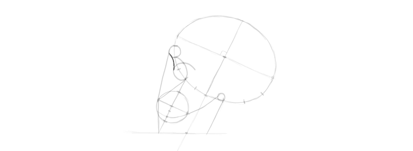 desenho olho caveira