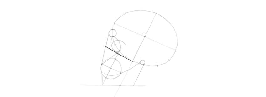 desenho crânio onde colocar o olho