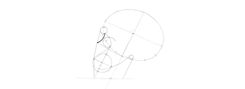 desenho crânio como desenhar o nariz