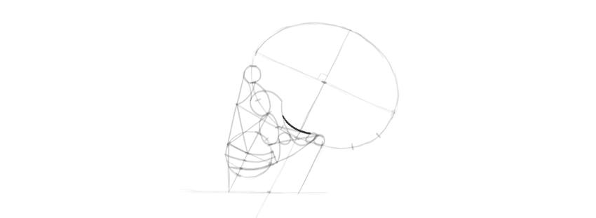 desenho crânio cume soquete