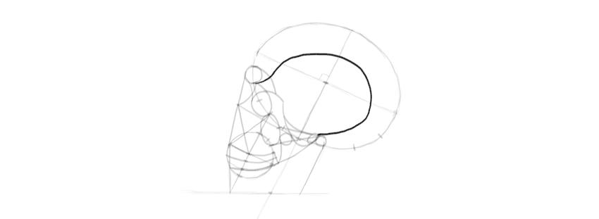 desenho templo do crânio