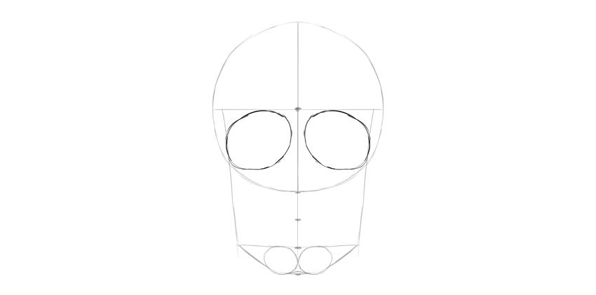 soquetes do olho do crânio humano geral