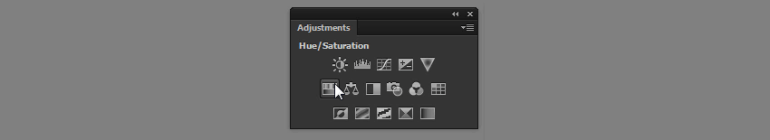 hue saturation adjustment layer