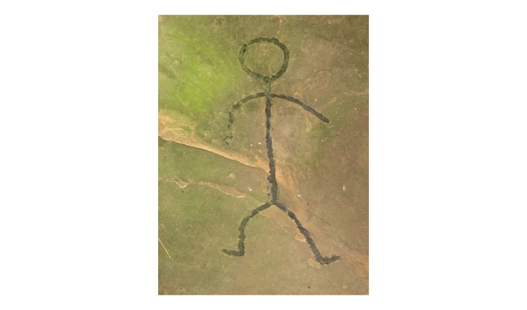 petroglyph ancient human stick figure