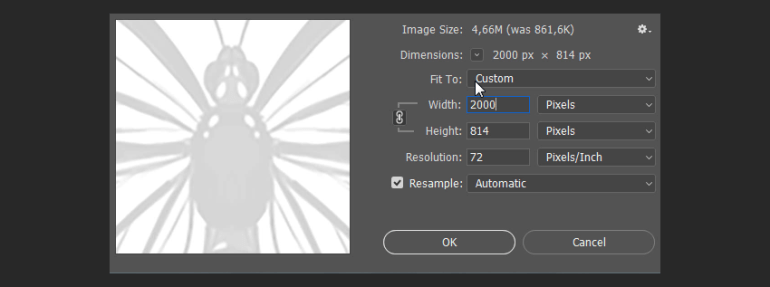 photoshop how to resize image