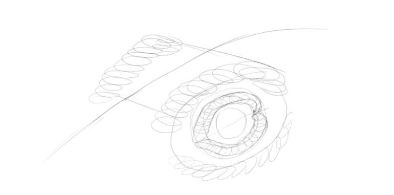 lizard eyebrows drawing