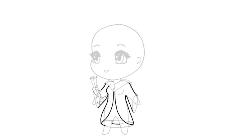 drawing chibi full robe