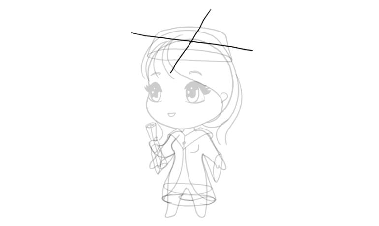 drawing chibi cap perspective