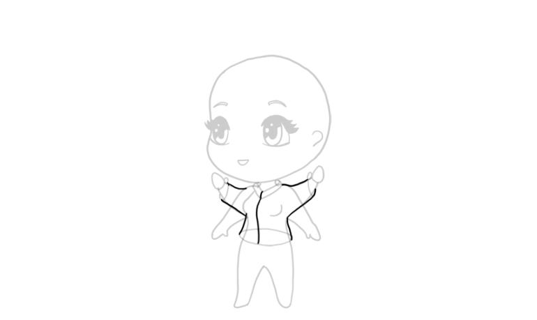 drawing chibi jacket