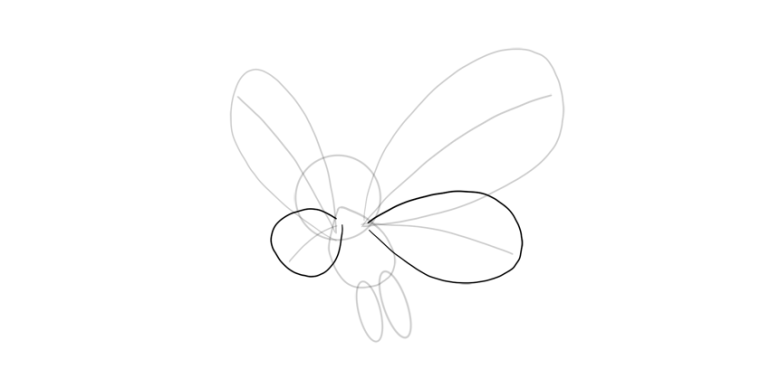 outline middle wings butterfree