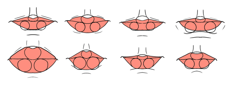 lips shapes front