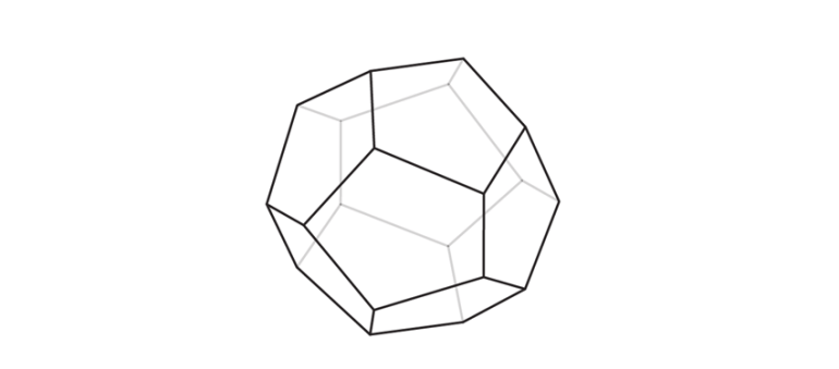 how to draw a pyritohedron