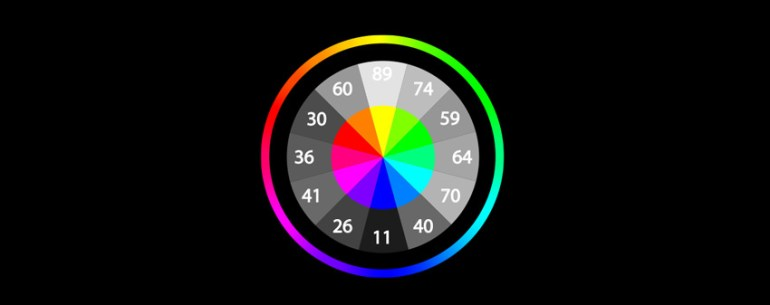 color wheel with values