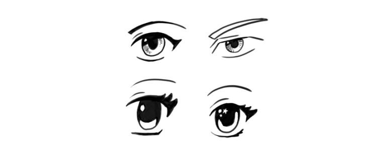 manga eyes styles