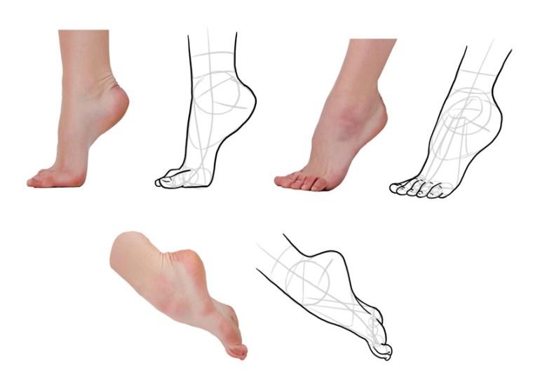 how to draw anime feet