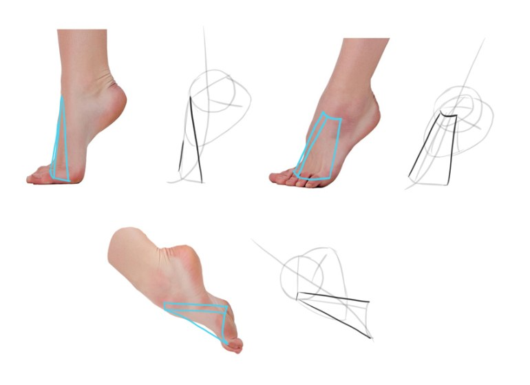 draw top of foot