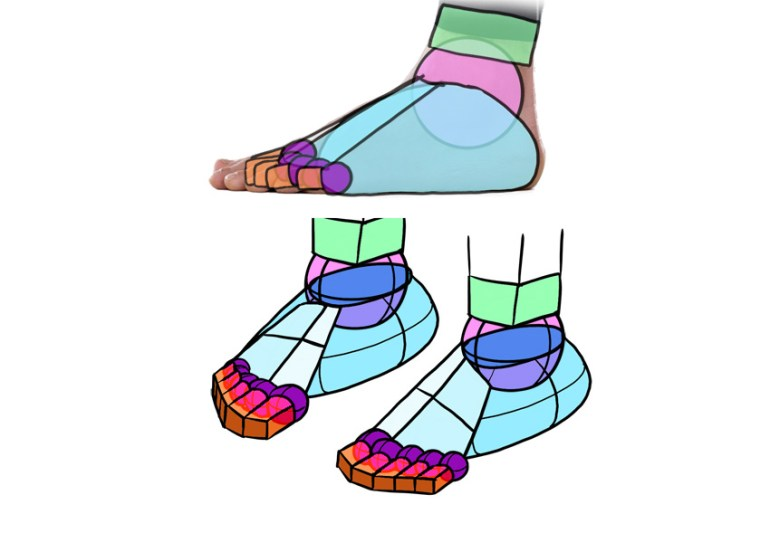how to draw toes in perspective