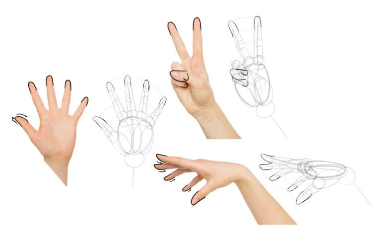 how to draw anime fingers