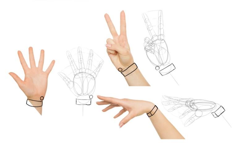 how to draw manga hands