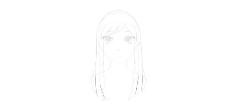 draw hair strands