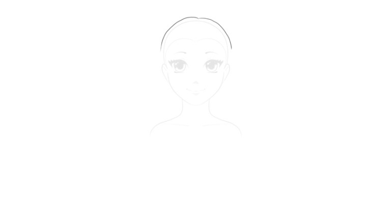 draw top of wavy hairstyle