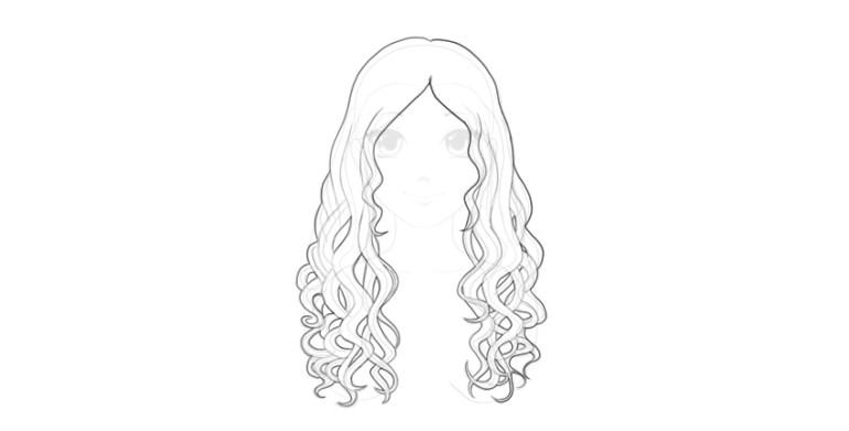 draw anime wavy hair