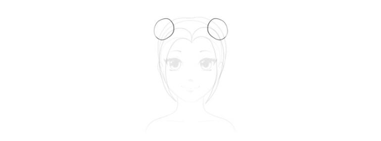 draw anime hair ties