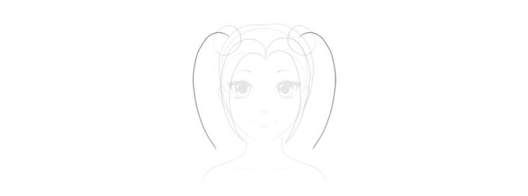draw rhythm of pigtails