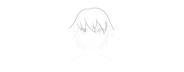 draw outline of hair