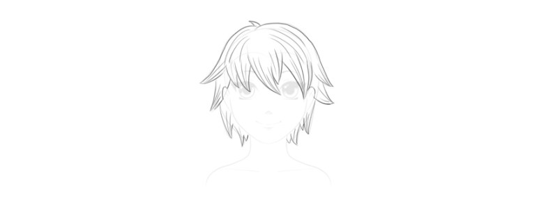 draw details of short hair