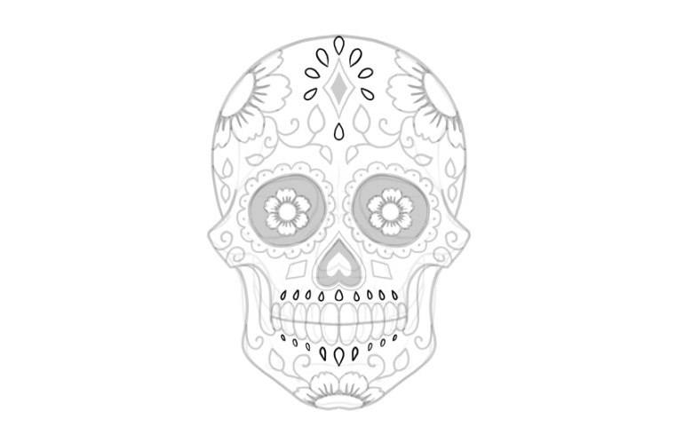 decorate sugar skull