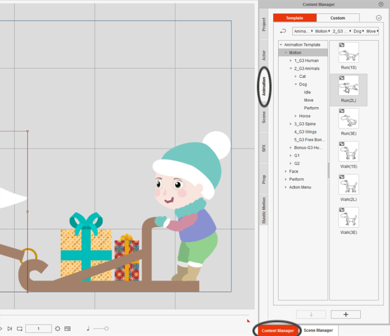 how to add animation to dog