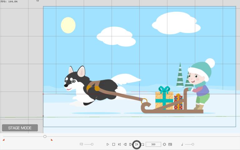 make background move crazytalk animator