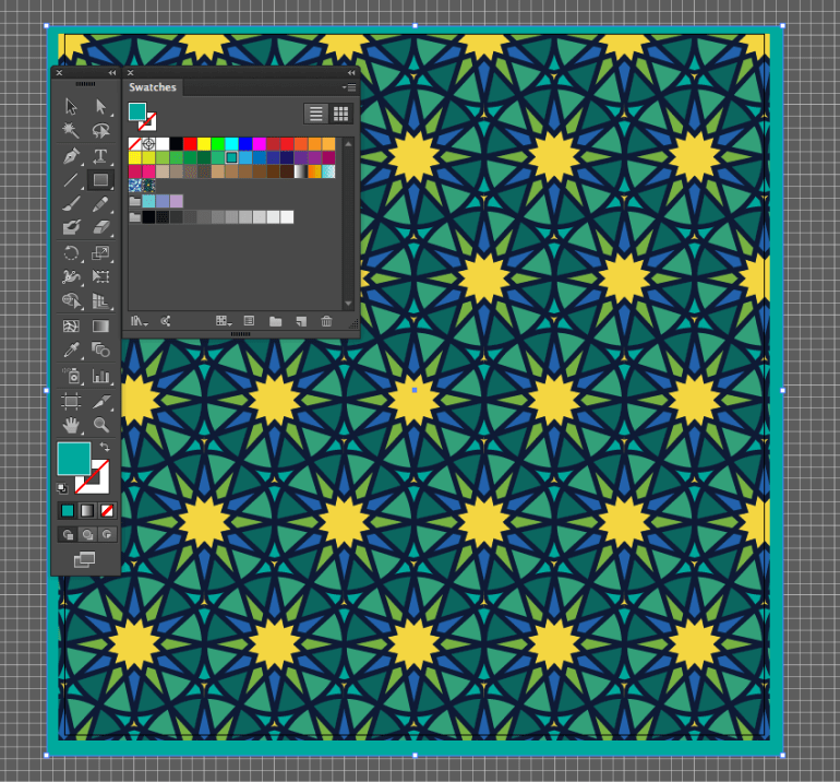 adobe illustrator edit fitr pattern create rectangle tool background send to back