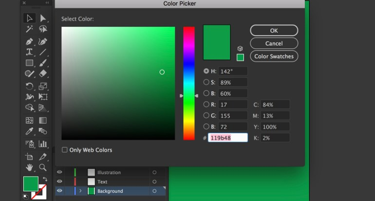 Create Rectangle backfround with fill hex color