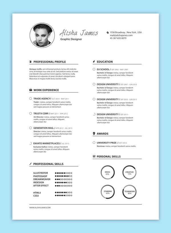 creative resume design tips with template examples