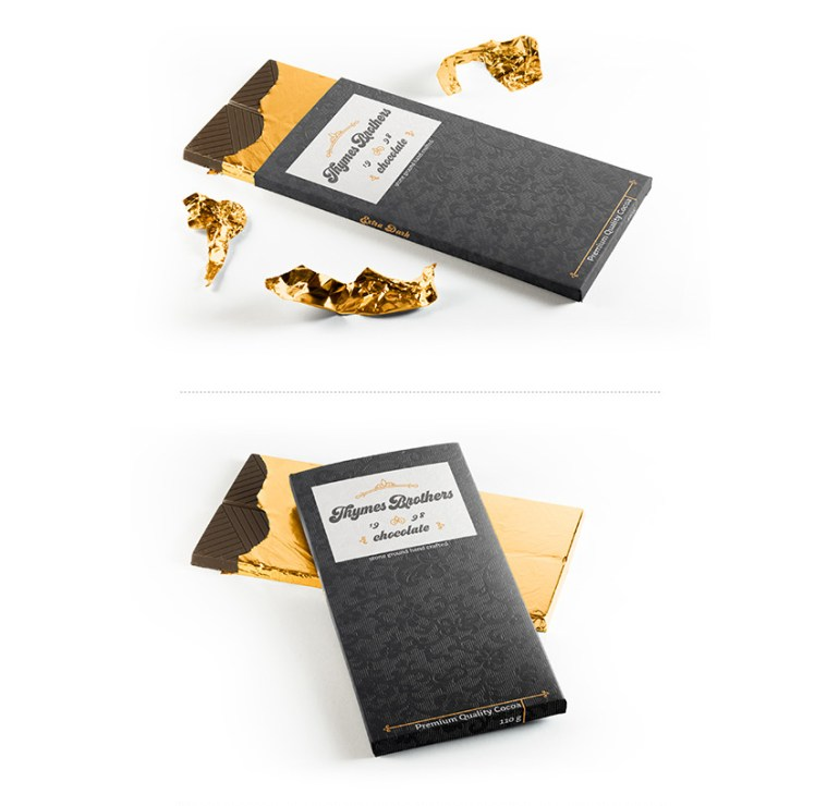chocolate branding bars