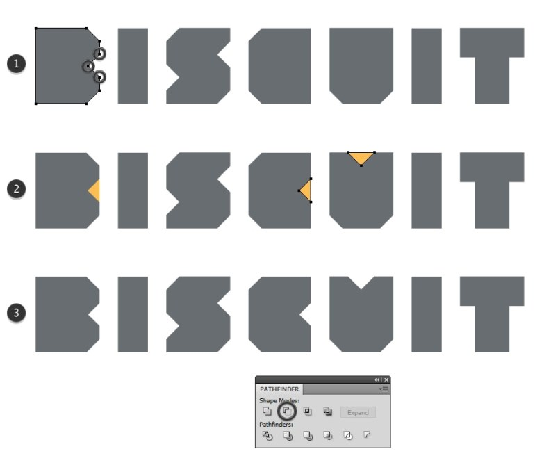 modify the biscuit text