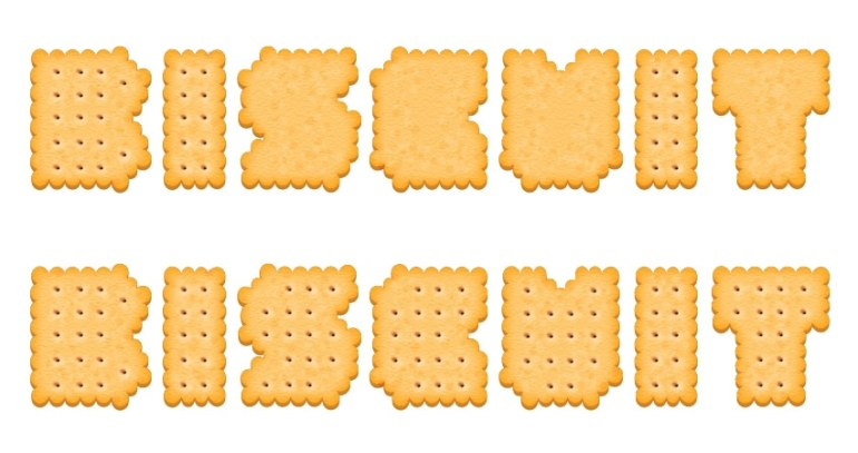 create the biscuit holes on other letters