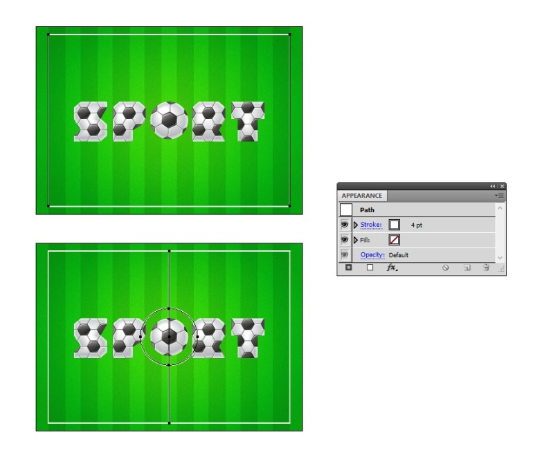 draw the lines on the football field background