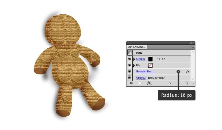 create shading on the voodoo doll