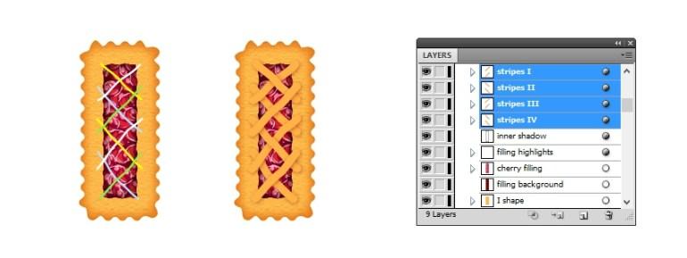create lattice top on letter I