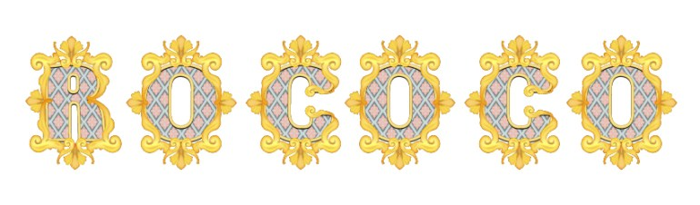 how to arrange the decorations back on the Rococo letters