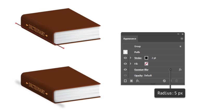 how to create shading on side of the book