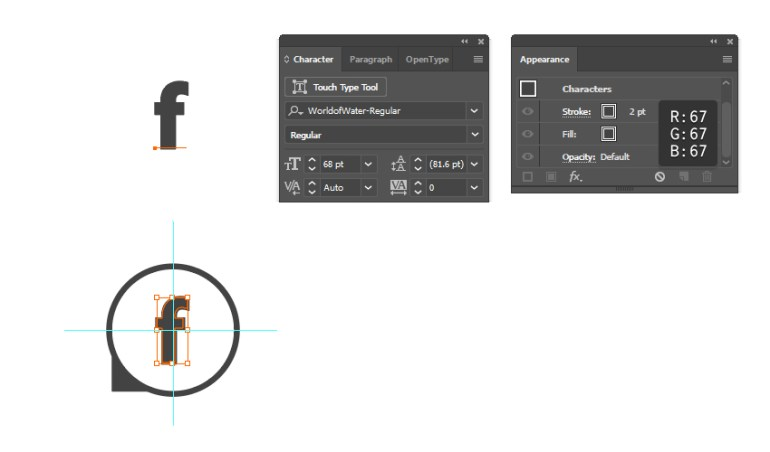 how to complete the Facebook vector icon
