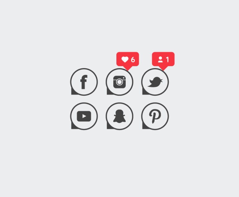 social media vector icons final image