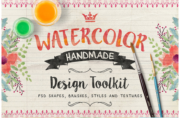 Watercolor  Elements Toolkit