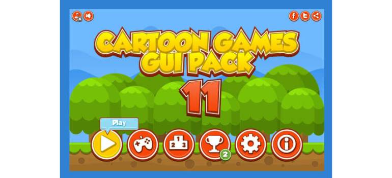 Cartoon Games GUI Pack 11