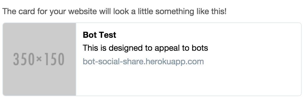 Screenshot of the Twitter Card Validator