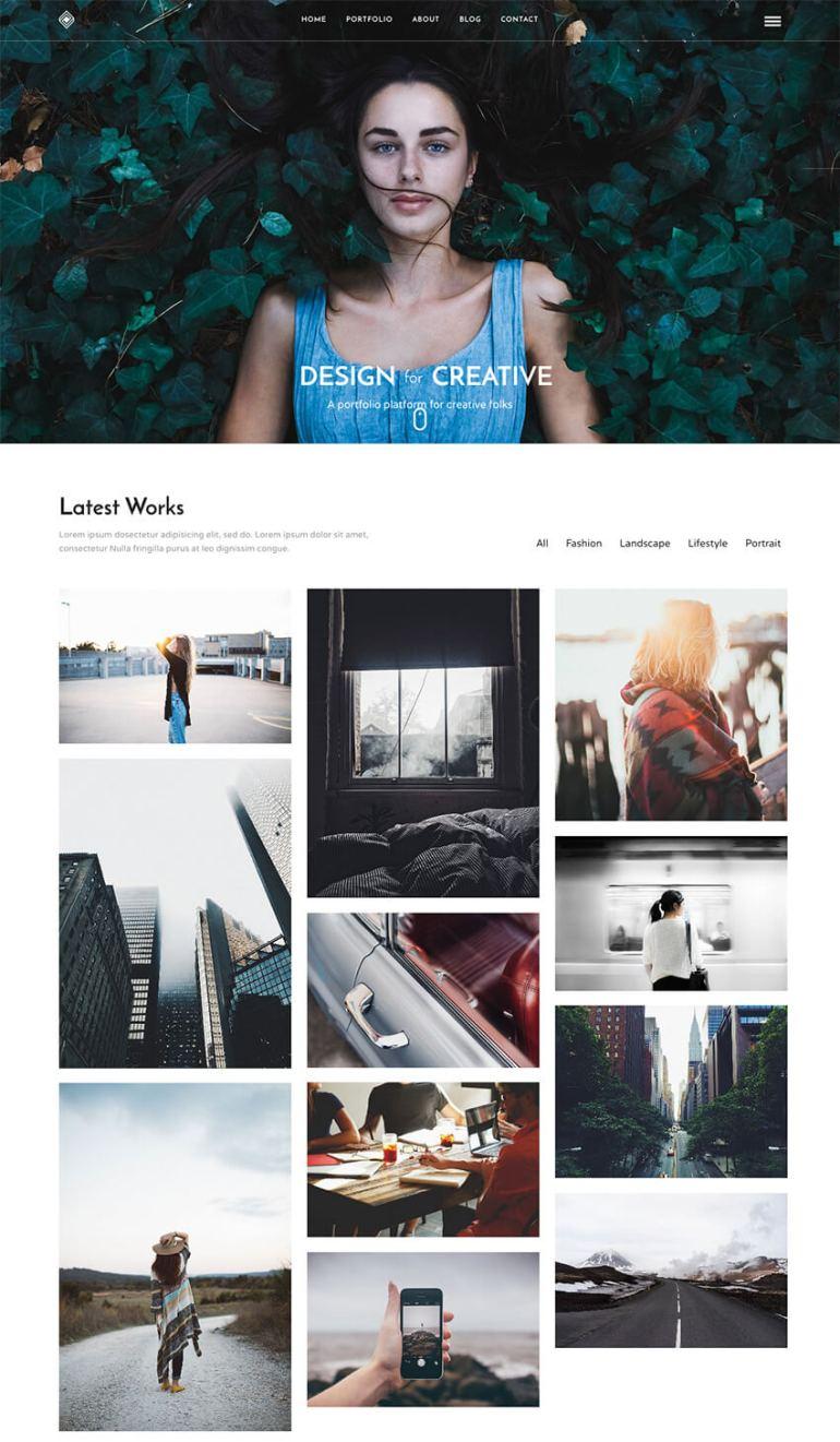 Grand Portfolio Modern WordPress Theme